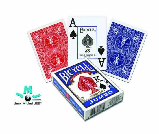 Cartes de poker Bicycle  - Jumbo Bleu